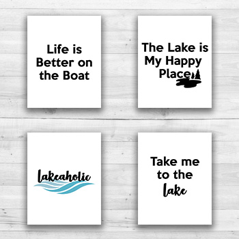 Lake Wall Prints - 8  x 10  Frame Ready Prints