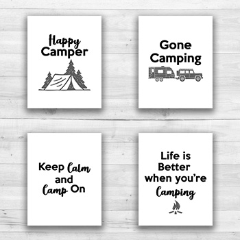 Camping Wall Prints - 8  x 10  Frame Ready Prints