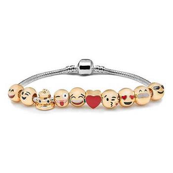 10-Beads Emoji Charm Bracelets - $12.99 with FREE Shipping!