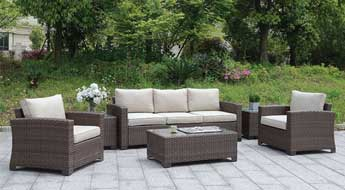 6 PC. PATIO SET W/ COFFEE TABLE & 2 END TABLES