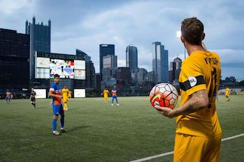 July 4th Riverhounds Game at Highmark Stadium!  Supporters Section!