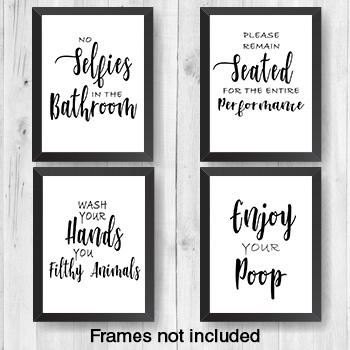 "Bathroom Wall Art - 8"" x 10"" Frame Ready Prints"