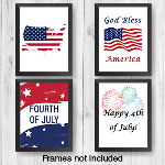 "4th of July Wall Prints  - 8"" x 10"" ""Frame Ready Prints"