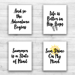 "Summer Wall Prints - 8"" x 10"" Frame Ready Prints"