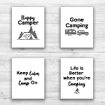 "Camping Wall Prints - 8"" x 10"" Frame Ready Prints"
