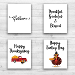 "Thanksgiving Wall Prints - 8"" x 10"" Frame Ready Prints"