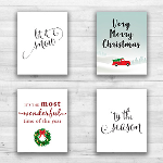 "Christmas Wall Prints - 8"" x 10"" Frame Ready Prints"