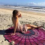 Round Chiffon Aztec Print Beach Throw - $12.99 With FREE Shipping