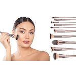 10-Piece: Glow Makeup Brushes - $17.99 with FREE Shipping!