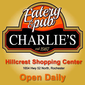 Charlie's Eatery and Pub-$20 in Certificates