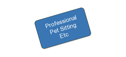 Professional Pet Sitting Etc. - One certificate for pet services valued at $100