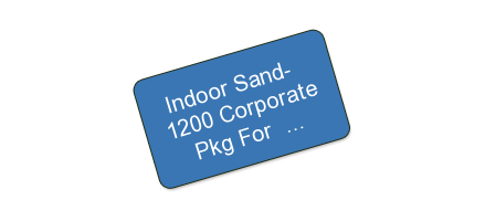 Indoor Sand - $1,200 Corporate Event Package For $600