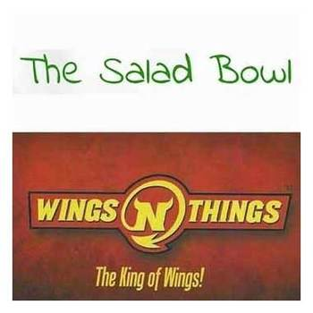 Wings 'N' Things/The Salad Bowl - $30 Voucher