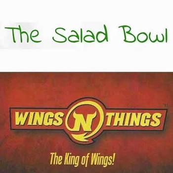Wings 'N' Things/The Salad Bowl - $50 Voucher