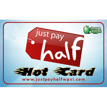 Just Pay Half Hot Card - Over 20 Locations!