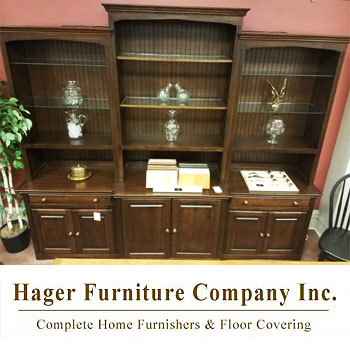 Hager Furniture - Arthur W. Brown 9ft. Wall Unit - Coffee Brown