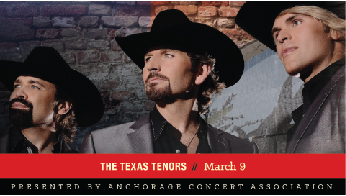 Anchorage Concert Association - A Pair of Adult Tickets to The Texas Tenors