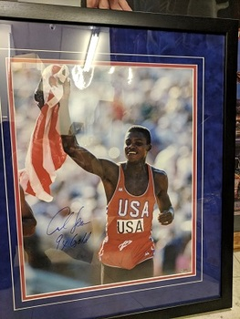 Sports Obsession - Carl Lewis 16 x 20 Autographed framed pic