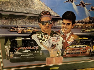 Sports Obsession - Dale Earnhardt Sr. and Jeff Gordon Framed artist