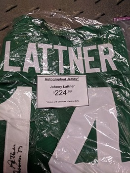 Sports Obsession - Johnny Lattner Autographed Jersey