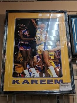 Sports Obsession - Kareem Abdul Jabbar matted framed poster