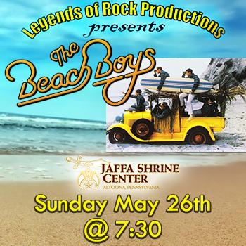 Jaffa Shrine: Beach Boys on Sunday, May 26th Show