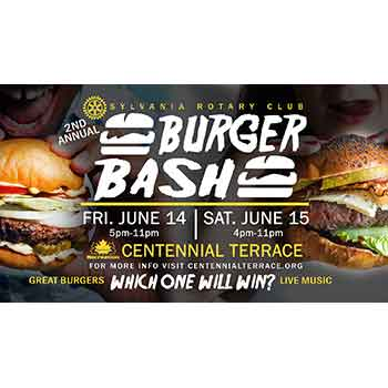 Centennial Terrace - Burger Bash - 1 General Admission ticket  For Friday or Saturday June 14th or June 15th- $6.00  For $3.00