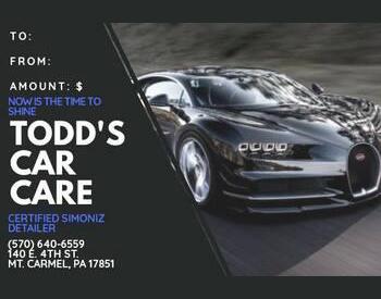 Todd's Car Care - Full Car Detail