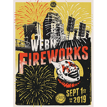 2019 W&S WEBN Riverfest + Fireworks Limited Edition Poster