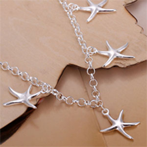 Starfish 925 Sterling Silver Plated Charm Bracelet - $16 with FREE Shipping!