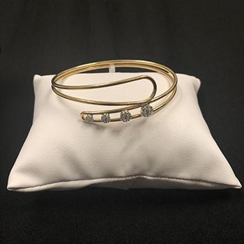 Robert Palma Designs - 18k Yellow Gold Bangle w/ Cascading Diamonds