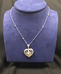 Robert Palma Designs - 18 Karat White/Rose/Yellow gold heart pendant necklace