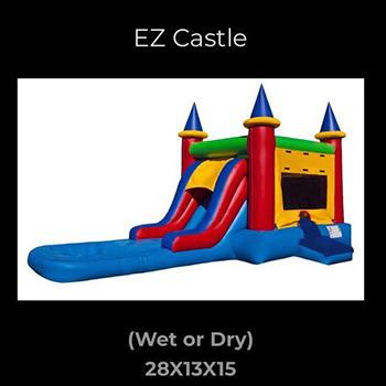 Hawaii Inflatables Deluxe EZ Castle Rental