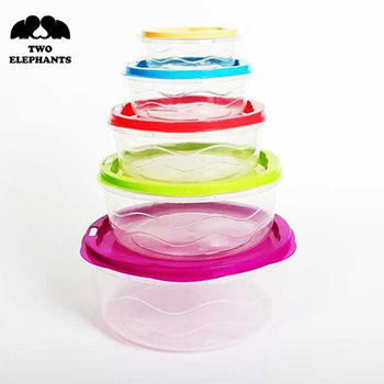 Two Elephants™ Food Storage Set with Coded Lids - $11.99 With FREE Shipping