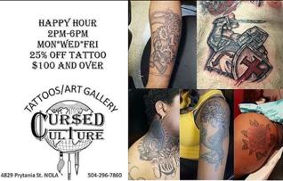 Half Off at Cursed Culture Tattoos!