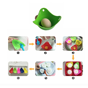 6-Pack: Silicone Egg Poachers with FREE Shipping!