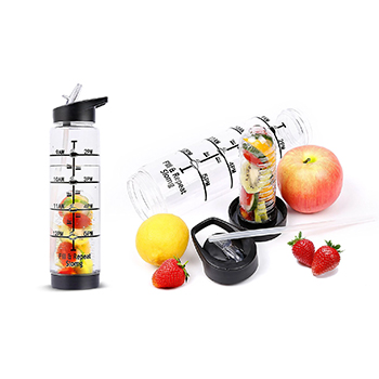 32oz Time Marking Fruit Infusion Water Bottle - $11.99 With FREE Shipping!