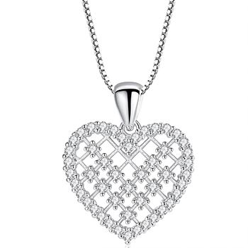 Dainty Crystal Heart Pendant Necklace Gold Plated with FREE Shipping!
