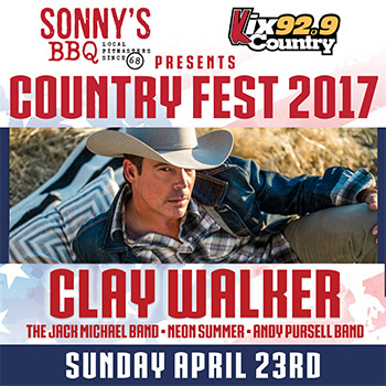 VIP TICKET: Country Fest 2017 with Clay Walker