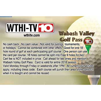 2018 Wabash Valley Golf Pass