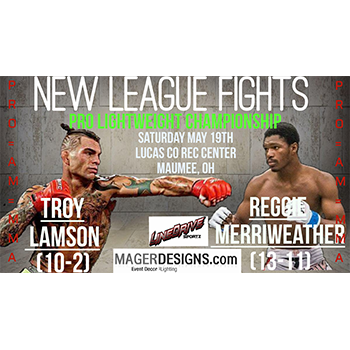 New League Fights-    $50.00 VIP Lounge Ticket For $25.00