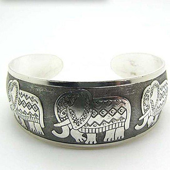 Elephant Retro Silver-Plated Bracelet - $14.00 with FREE Shipping!