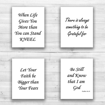 Religious Wall Art - 8  x 10  Frame Ready Prints