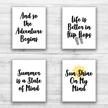 Summer Wall Prints - 8  x 10  Frame Ready Prints