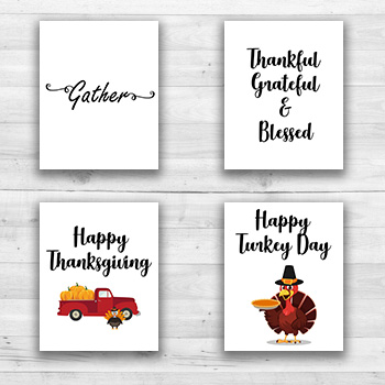 Thanksgiving Wall Prints - 8  x 10  Frame Ready Prints
