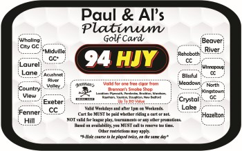 Paul & Al's Platinum Golf Card 2019
