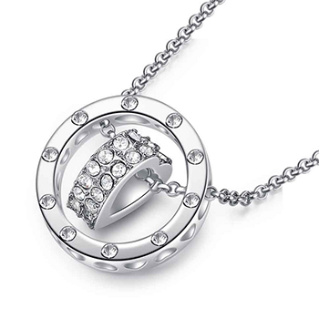 Simulated Diamond Heart Necklace With FREE Shipping!