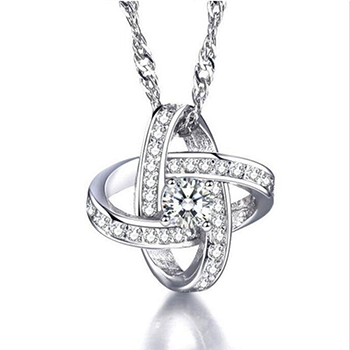 Mary Eternal Love Simulated Diamond Necklace With FREE Shipping!