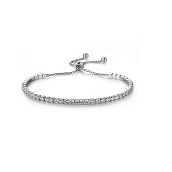 Jaime Silver Crystal Bracelet With FREE Shipping!