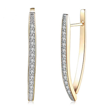 Swarovski Crystal Triangle Hoop Earrings With FREE Shipping!